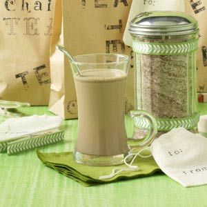 Chai Tea Mix Recipe -I received this recipe from my sister, who got it from a friend in Alaska. This warming drink makes a great Christmas gift. For friends at work, I bought some cute jars with lids. I placed some fabric on top and tied them with ribbon. —Donna Gish, Blue Springs, Missouri