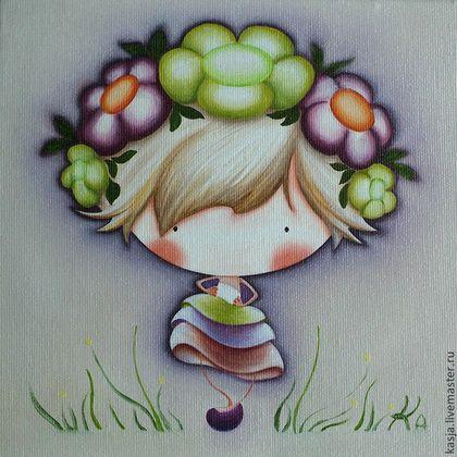 Цветочная принцесса - картины в детскую,картины для детей,принцесса,цветочная принцесса