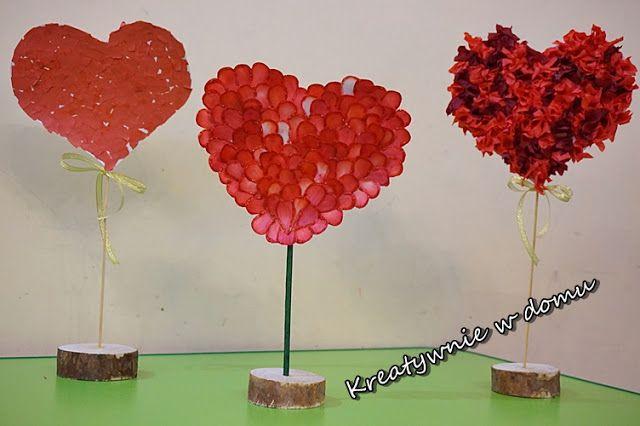 Serca Dla Babci I Dziadka Kreatywnie W Domu Holiday Crafts Diy And Crafts Valentines