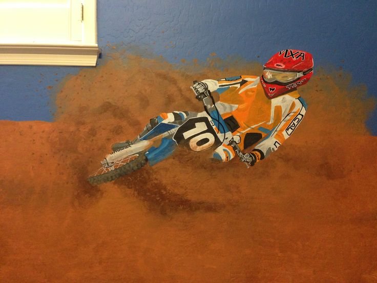 17 best images about dirt bike mural the ultimate boys for Dirt bike wall mural