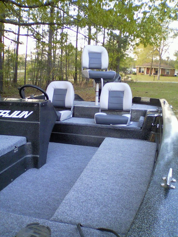 This is my 1989 Cajun bass boat, if you want to save money on an older boat upgrade to make it nice again, Lowes sells outdoor carpet that will work just fine. I did the whole boat excluding the seat for less then 200 dollars and lots of elbow work. Don't let the nah sayers tell you it won't work we have had hundreds of fish and blood on it and it cleans great.
