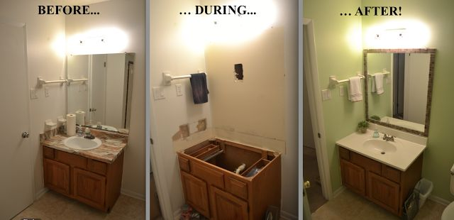 Cheap bathroom updates add tiles to a borderless mirror for Inexpensive bathroom updates