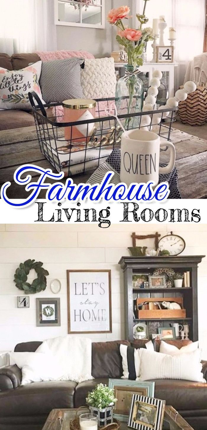 Farmhouse Living Rooms • Modern Farmhouse Living Room Decor Ideas • Farmhouse Family Rooms • Rustic Family Rooms • Farmhouse Dens • Farmhouse Style Decorating