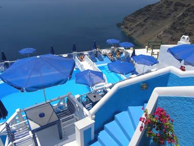 Santorini Greece - Kafieris Blue Apartments on Santorini Island
