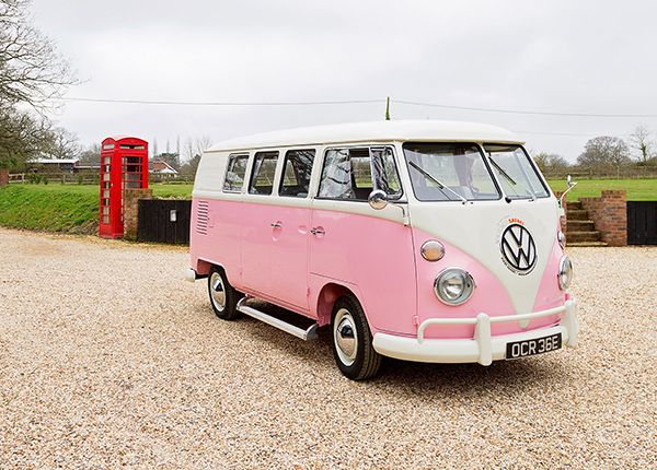 Pandora is our 1967 RHD Split-Screen Campervan, with a twist! Instead of the traditional Campervan colours, Pandora is a cool baby pink that is sure to make everyone who sees her swoon with admiration. Like all of her friends here at New Forest Safari Campers, she's undergone a complete restoration to make she's in tip-top condition ready to explore with you! She comes with a modern leather interior, full width double bed, 2 ring gas burner and lots more! Pandora can comfortably sleep...
