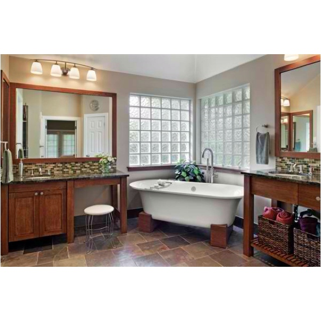 Craftsman style bathroom bathroom pinterest - Mission style bathroom accessories ...
