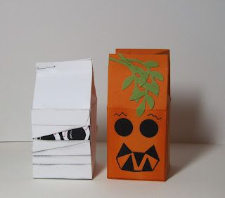 halloween spooky monster milk cartons stamp up your craft four others at the link - Halloween Cartons