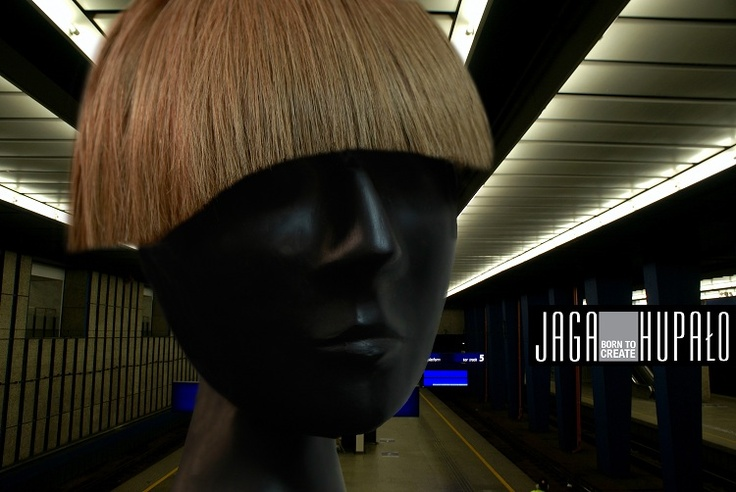 Clip on bangs represent creative installations of a hairstyle element. The design is available in three colors: black, brown and blond. The shape is customizable. The bangs are clipped on with two pins.
