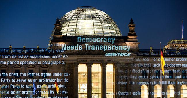 TTIP, Greenpeace pubblica documenti: ambiente e salute UE a rischio
