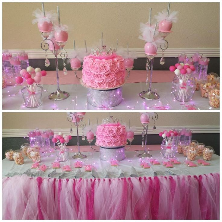 Pink Princess Table Kids Party TablesPink PrincessKid PartiesBirthday IdeasBirthday