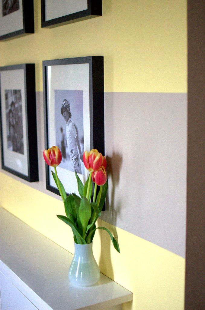 Entry Way Update { How to paint wall stripes } -