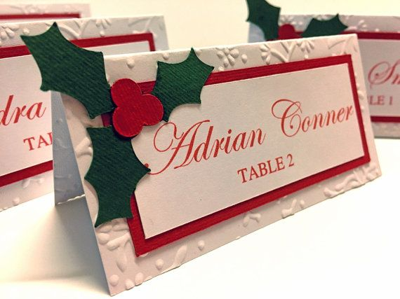 10 Christmas Place Cards Christmas Food by DreamsByTheRiver