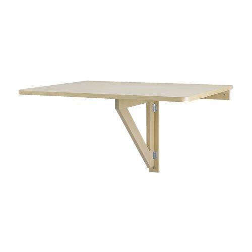 NORBO Table murale à rabat IKEA Pliante, la table prend peu de place lorsqu'elle n'est pas utilisée.