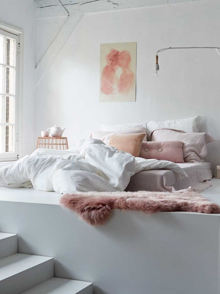 Pale pink and white