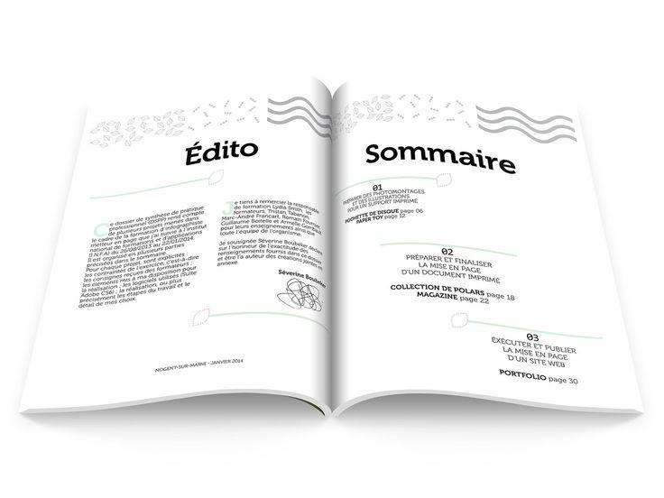 Séverine Boubeker Portfolio : MISE EN PAGE