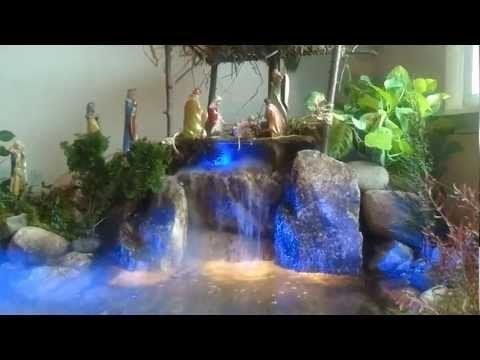 El nacimiento de navidad (pesebre) mas real con cascada natural hecho en un dia - YouTube
