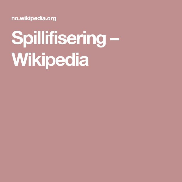 Spillifisering – Wikipedia
