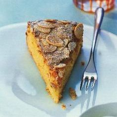 Spanish orange and almond cake Made with whole oranges – simmered until very tender and then finely chopped – and ground almonds,