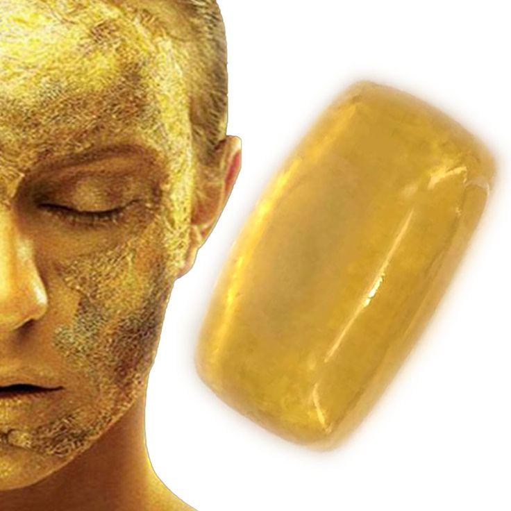 38g Oro sapone Rivitalizzante Riparazione Bellezza 24 K Per La Pulizia Del Viso Sapone Cura del Viso Sbiancamento Della Pelle naturale fatto a mano sapone da bagno