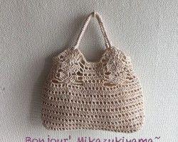 """Хлопчатобумажный мешок """"amiamibag"""" рисунок большая сумка вязания крючком одуванчика"""