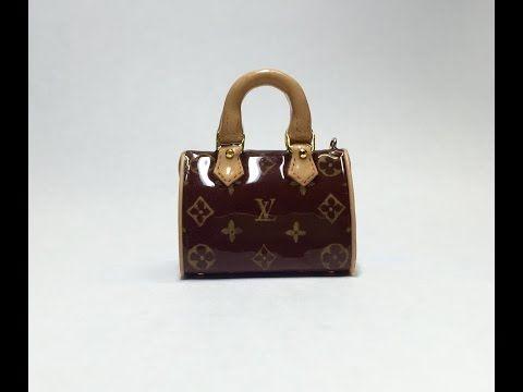 Making Miniature Louis Vuitton Bag with Polymer Clay(폴리머클레이로 미니어쳐 루이비통 가방 만들기) - YouTube