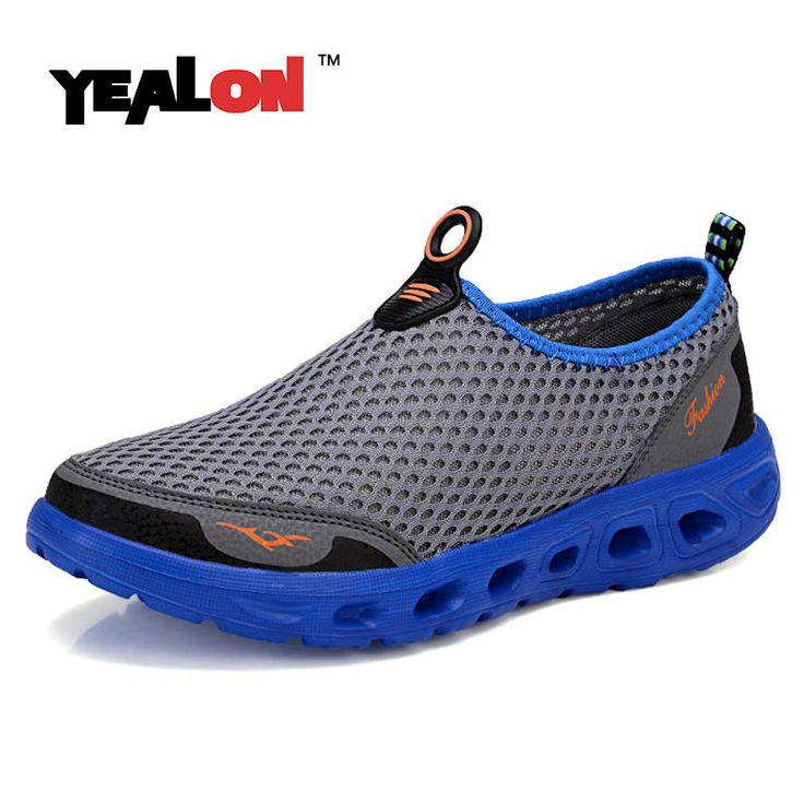 $14 YEALON Aqua Shoes Men Waterproof Shoes Summer Beach Shoes Water Shoes For Men Sports Sneakers Hiking Sandals Breathable jogging