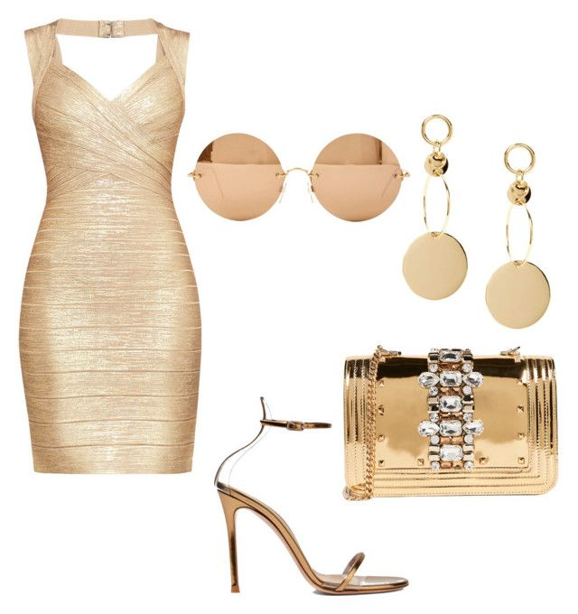 """""""Hell Hath No Fury"""" by dasha408465 on Polyvore featuring мода, Hervé Léger, GEDEBE, Gianvito Rossi и Victoria Beckham"""