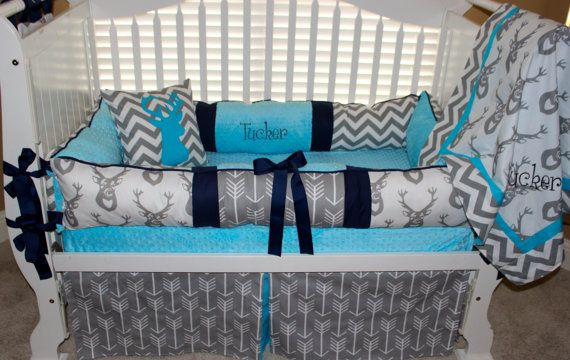 Hey, I found this really awesome Etsy listing at https://www.etsy.com/listing/224997958/custom-baby-bedding-6-pc-set-woodland