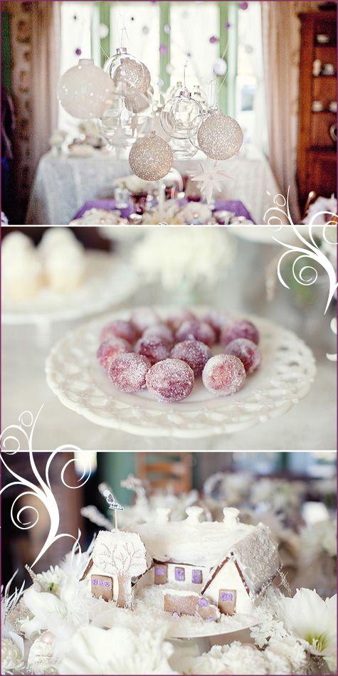 Winter WonderlandGorgeous Ornaments, White Winter, Winter Wedding, Winter Wonderland, Versus Winter, Bridal Shower, Winter Cake, Christmas Ideas, Hanging Ornaments