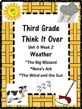 Wonders McGraw Hill Grade 3 Unit 6 Week 2 Weather This Study Guide includes: Spelling: three lists, Home Note, sorts, flashcards, sentences, alphabetizing Vocabulary: Home Note, glossary/dictionary activity, matching, flashcards, box/square activity Comprehension Questions/Answers - three selections Comprehension Skills: