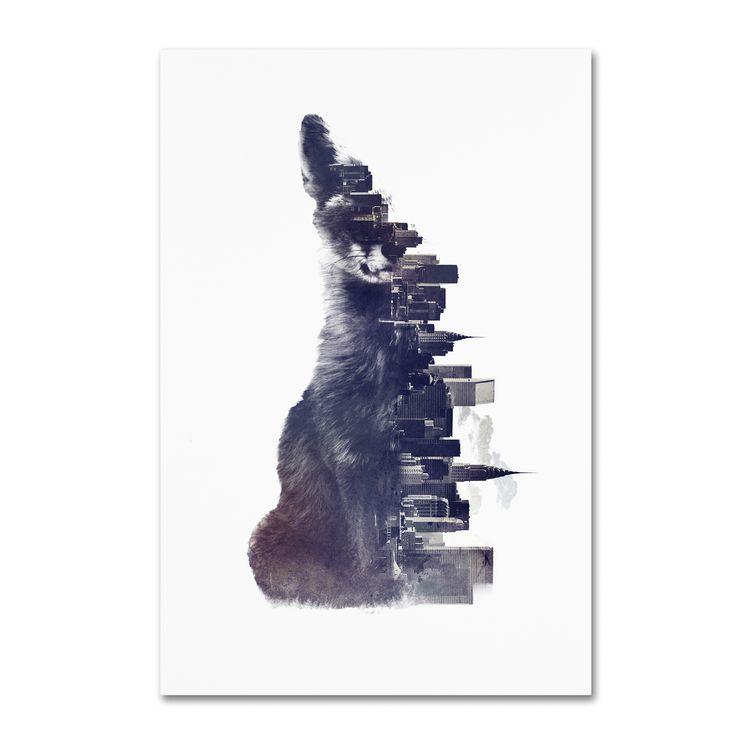 Robert Farkas 'Fox From The City' Canvas Art