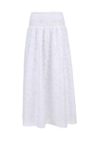 Женственная юбка-макси от Baon создана из тонкой ткани с полупрозрачным узором. Детали: плотная подкладка, широкая резинка на поясе. http://j.mp/1pg8Jra