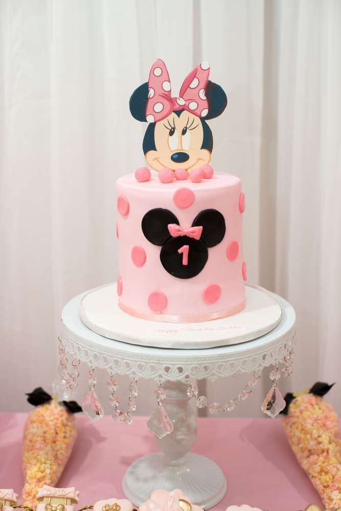 Sensational Minnie Mouse Princess Birthday Party Ideas Pink Birthday Cakes Personalised Birthday Cards Veneteletsinfo