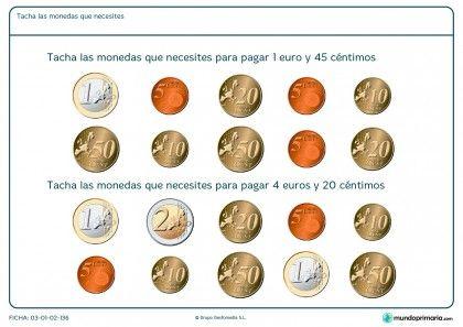 Ficha de dinero que hace falta para Primaria
