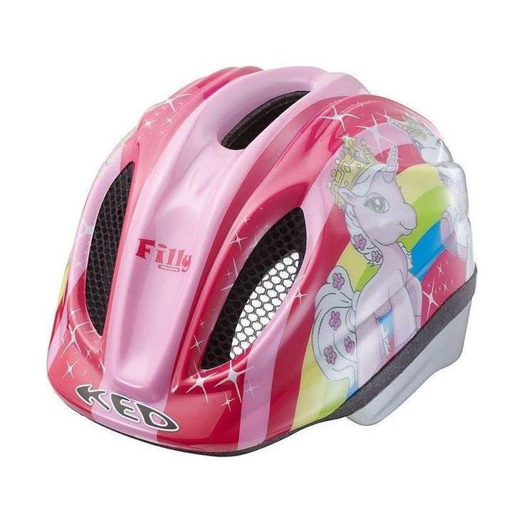 Knalliges Pink und die Filly-Pferde - Der KED Fahrradhelm für Mädchen.