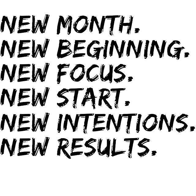 Monday Motivation New month New Goals. #SportsFitters don't give up on your fitness goals you can achieve what you set your mind out to do.