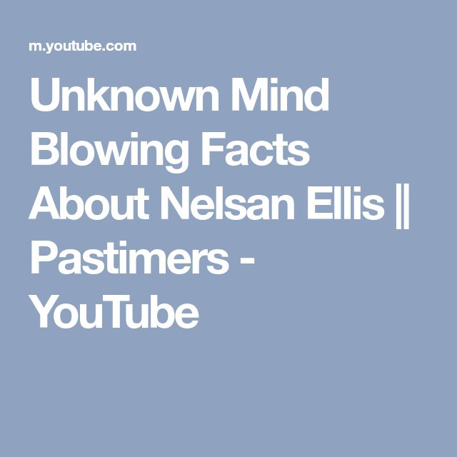 Unknown Mind Blowing Facts About Nelsan Ellis || Pastimers - YouTube