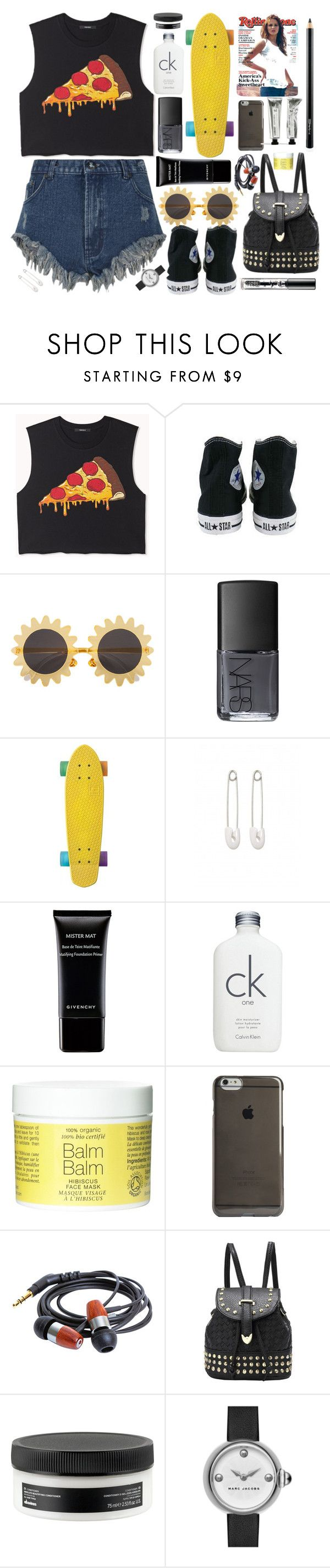 """""""Lunchtime"""" by swanniboo on Polyvore featuring Forever 21, Converse, H&M, NARS Cosmetics, Kristin Cavallari, Givenchy, Calvin Klein, Agent 18, Davines and Marc by Marc Jacobs"""