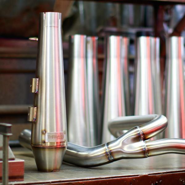 THRASHIN Stainless Steel 2>1 Xhaust FXR - Show Polished. $999.99 US