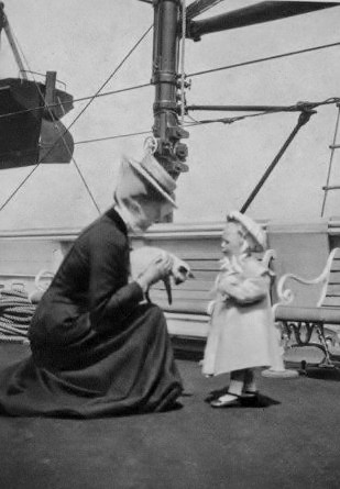 Queen Alexandra's grandson, Prince Olav of Norway (1903-1991) was the son of King Haakon VII and Queen Maud of Norway, and would reign from 1957 to 1991 as King Olav V of Norway.