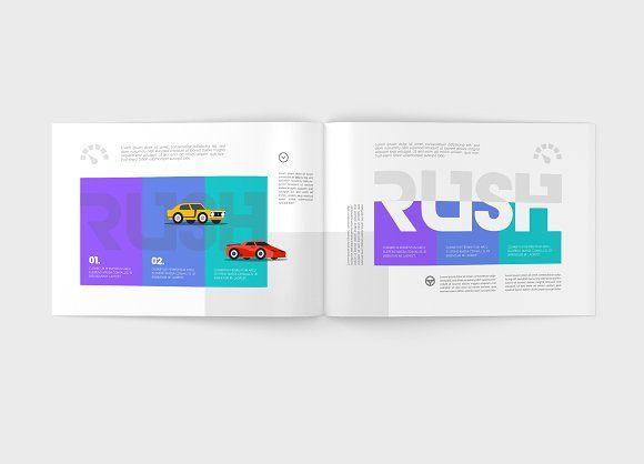 A4 Landscape Magazine Mock-Up by ToaSin on @creativemarket
