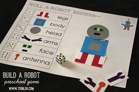 """Never miss a post! Sign up to receive my weekly newsletter. Looking for a fun and educational game for your preschooler? This simple """"Roll a Robot"""" game is the perfect fit!Scissors, glue sticks and rolling dice, what more could you want? You can choose to let your child cut out the robot themselves or you …"""