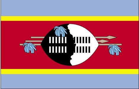Country Flags: Swaziland Flag