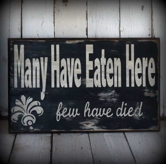 Painted and distressed wood sign - Rustic, Home Decor, Wall Art, Kitchen Art. $65.00, via Etsy.