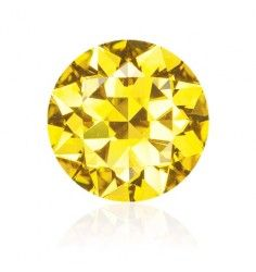 10.05 CT Canary Yellow diamond Round Shape VS2 Clarity GIA.