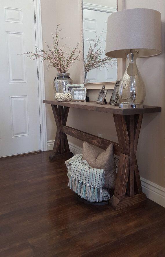 Rustic Foyer Cabinet : Rustic farmhouse entryway table sofa console