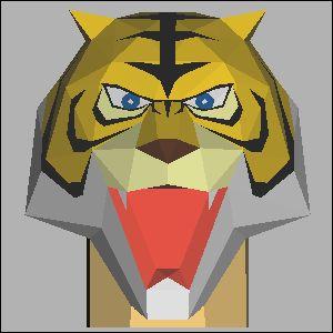 タイガーマスクの展開図 似顔絵 無料 ダウンロード ペーパークラフトファン