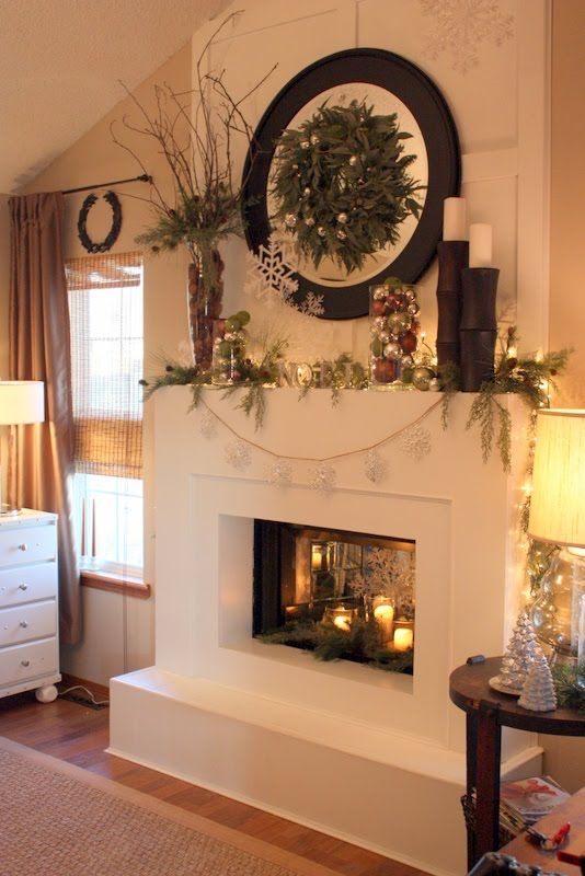 25 best ideas about christmas mantle decorations on Bedroom fireplace ideas