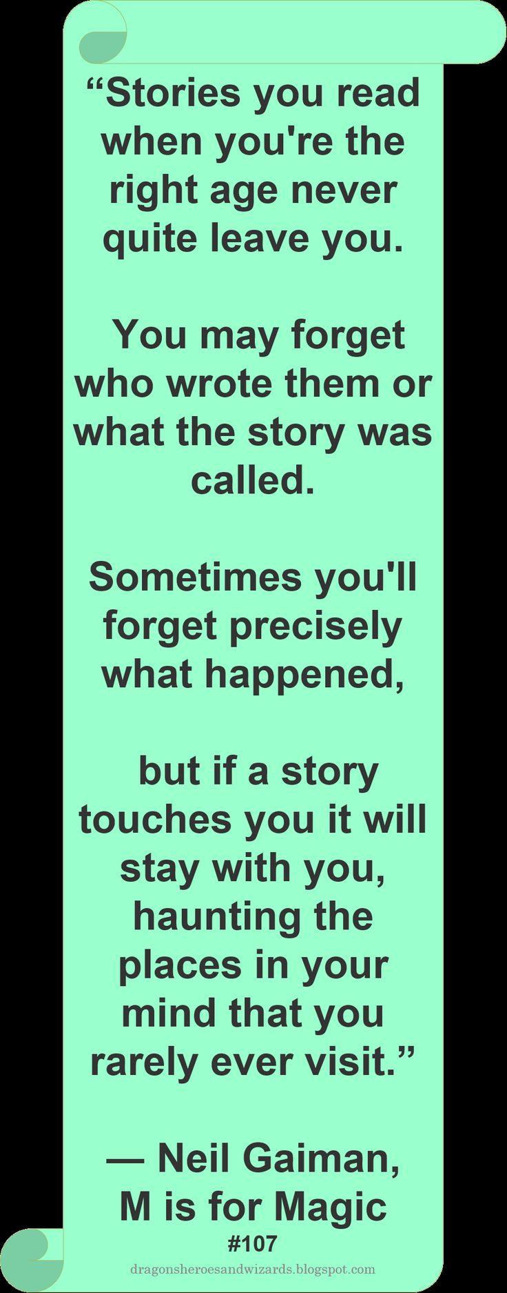 ♥ Neil Gaiman ♥ #Quote #Stories