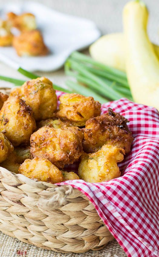Squash Hush Puppies...I've never had these before but they look and sound good..something different!
